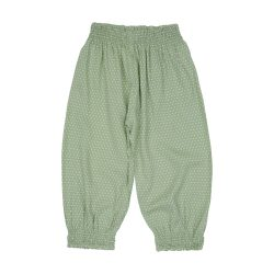 Green dot gypsy pants (1)