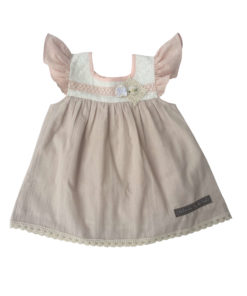Nude baby doll dress