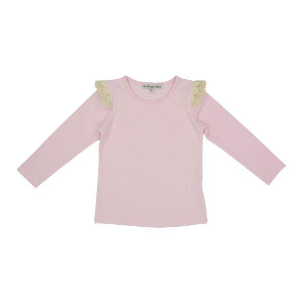 Pink shoulder lace top