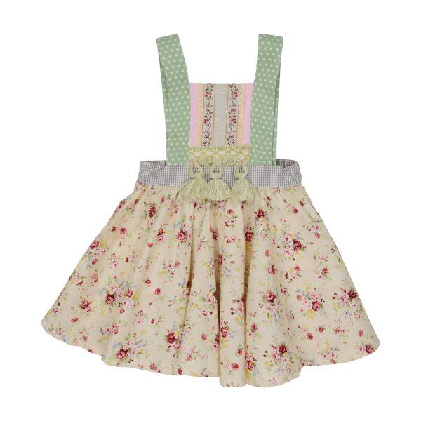 Tassel overall dress