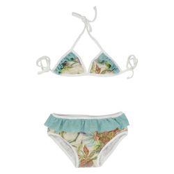 aqua paisley mini bikini