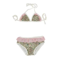 pink and mint paisley mini bikini