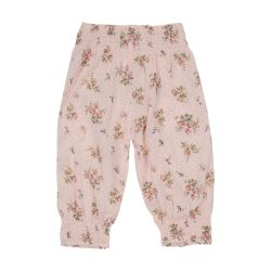 pink floral gypsy pants