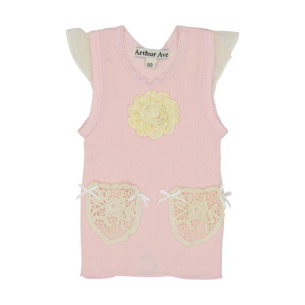 soft pink crochet pocket vest