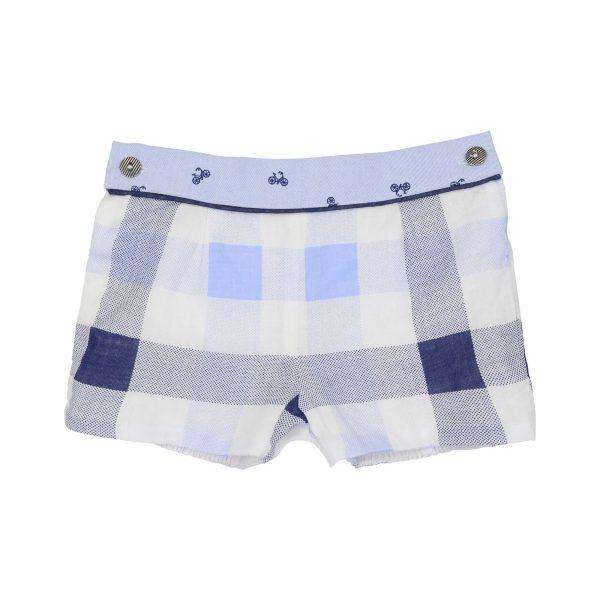 Blue bike, smart shorts