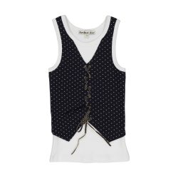 Boys vest criss cross top
