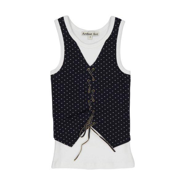 Boys vest criss cross top