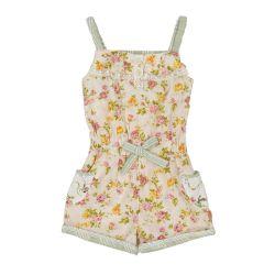 English rose shorts playsuit