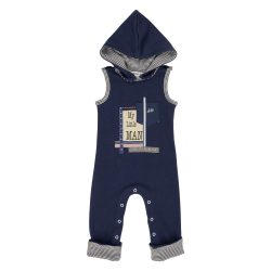 Long navy little man jumpsuit