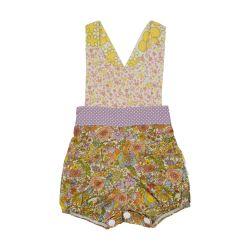 Vintage spring floral overalls