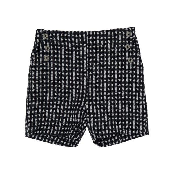 black tailored shorts