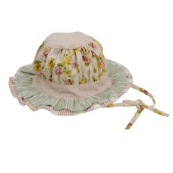 english rose layered hat