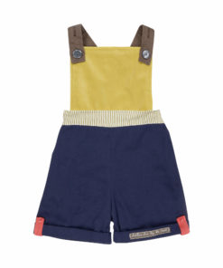 mustar and navy overalls