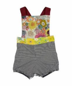 pinstripe colorful delight overalls