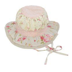 Cream Layered Hat