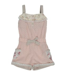 Cream Short Playsuit