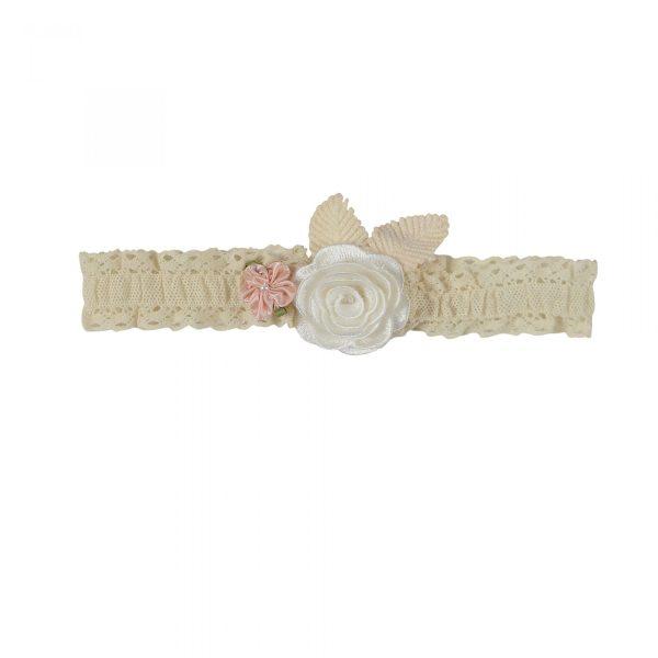 Cream Flower Headband