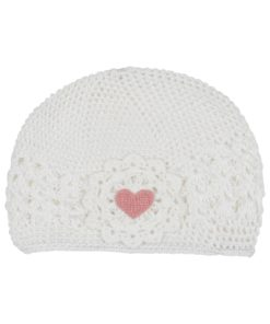 Milk White Heart Soft Hat