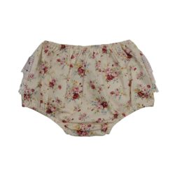 Nude Floral Frilly Bums Front