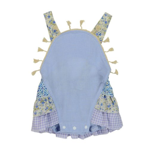 Blue Gingham Overalls