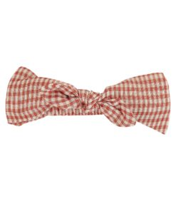 Red Check Headband